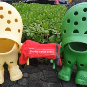 – Crocs not for marathon –