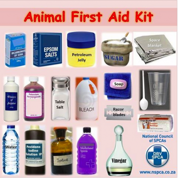 HOUSEHOLD ANIMAL FIRST AID KIT